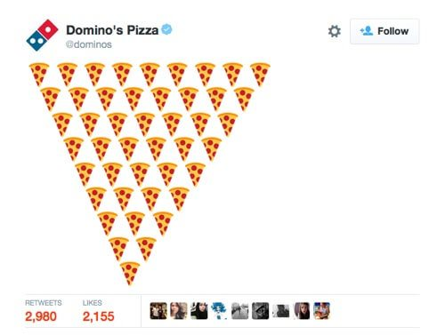 Domino's Pizza on Twitter.