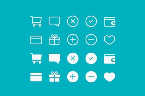 E-Commerce Icons-buattokoonlineid