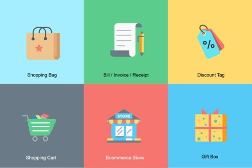 18 Free Ecommerce Icon Sets, for Navigation and Design
