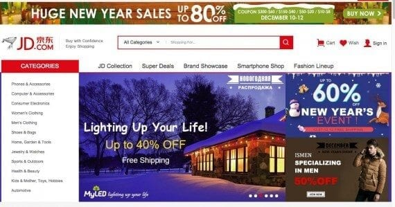 JD.com now partners with Ebay to allow selected vendors on the Ebay site to sell directly to Chinese consumers.