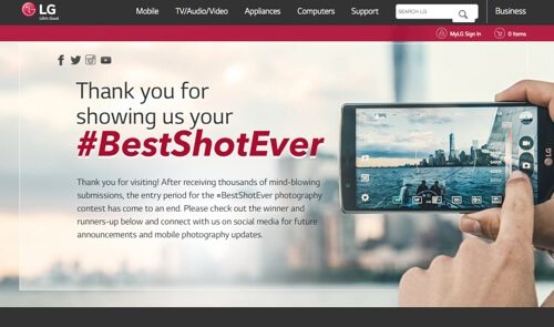 LG Mobile #BestShotEver.