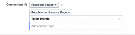 Target only people who like your Facebook page.