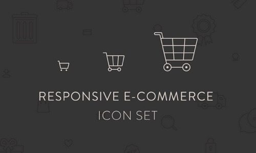 Responsive Ecommerce Icon Set.