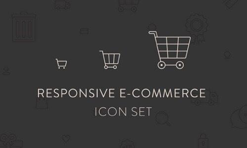 Responsive Ecommerce Icon Set.
