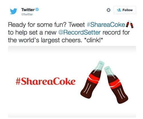 #ShareaCoke on Twitter.