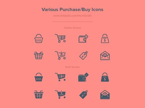 Various Purchase/Buy Icons.