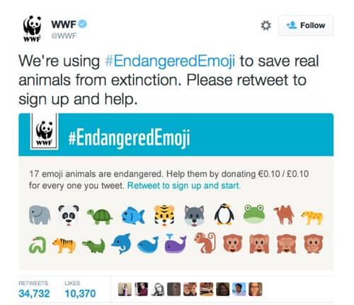 WWF #EndangeredEmoji on Twitter.