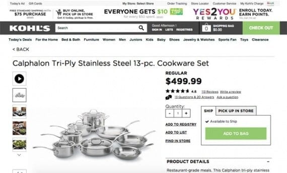 Senior shoppers could save $75 purchasing this cookware on a Wednesday at one of Kohl's physical stores.