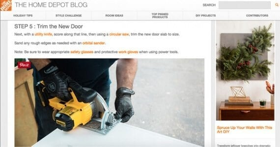 Posts like this one on The Home Depot Blog, provide step-by-step instructions readers can follow to complete a task.