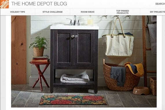 Not every posts on The Home Depot Blog describes a DIY project, rather some inspire them.