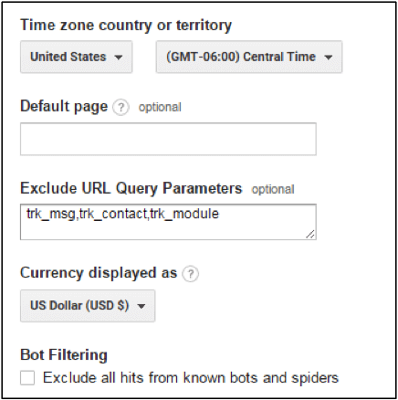 Create a list of all query unnecessary string parameters.