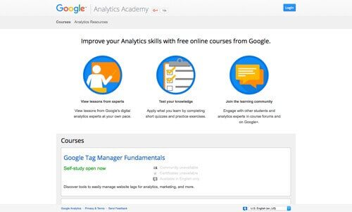 Google Analytics Academy.