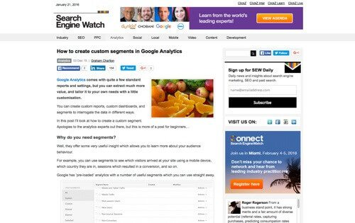 """How to Create Custom Segments in Google Analytics."""