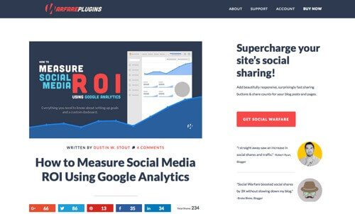 """How to Measure Social Media ROI Using Google Analytics."""