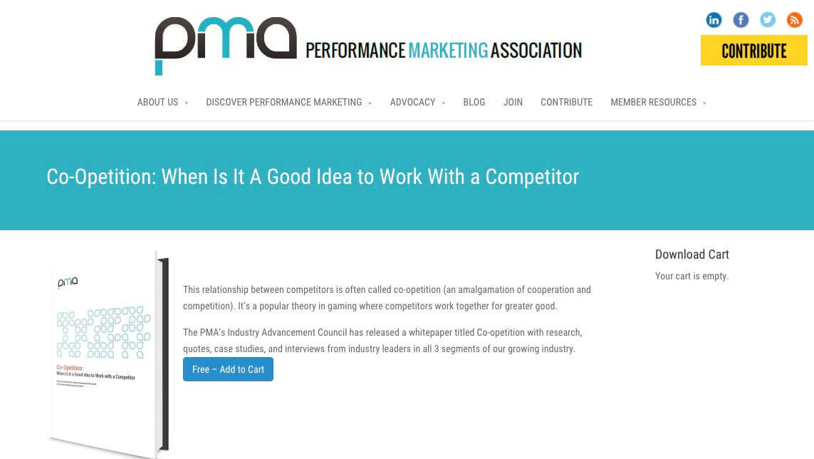 "A new whitepaper from the Performance Marketing Association describes instances of coöperation between competitors — i.e., ""co-opetition"" — in the affiliate marketing industry."