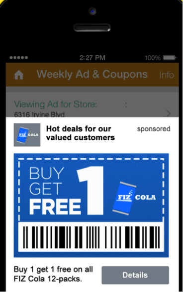 Phunware enables real-time promotions in its mobile app.