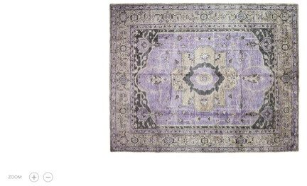 This oriental rug at One Kings Lane has a zoom feature that did not work.