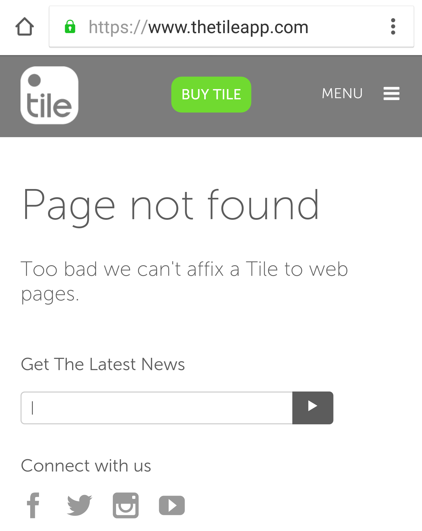 Tile's friendly error pages covers the basics, no more.