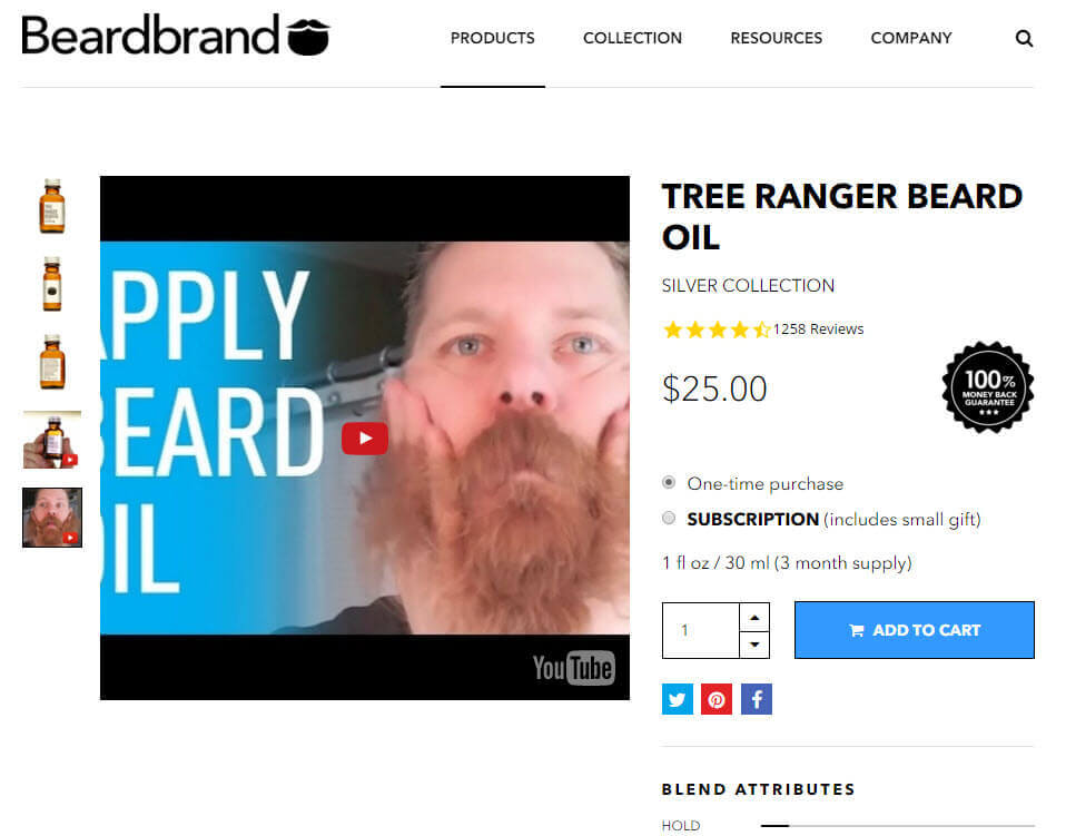 Beardbrand sells to a niche market. It provides product-detail videos and how-tos on using its products.