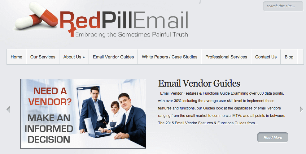 RedPillEmail offers email marketing vendor guides.