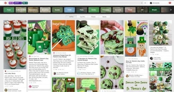 St. Patrick's Day social media content , like pins on Pinterest, is perhaps the simplest example of what you can do to engage potential customers around the holiday.