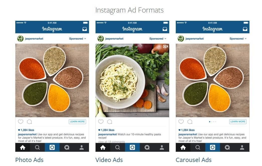 Instagram now offers three types of ad formats via its self-serve advertising platform.