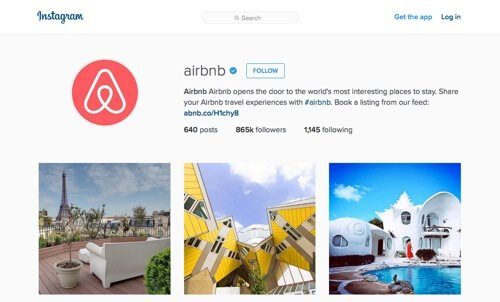 Airbnb on Instagram.