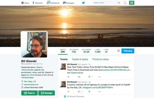 Bill Slawski on Twitter.