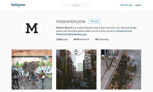 Mission Bicycle on Instagram.