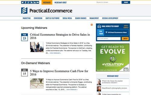 PracticalEcommerce Webinars.