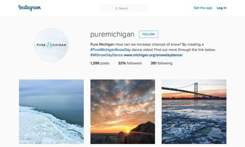 Pure Michigan on Instagram.