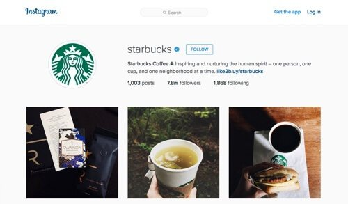 Starbucks Coffee on Instagram.