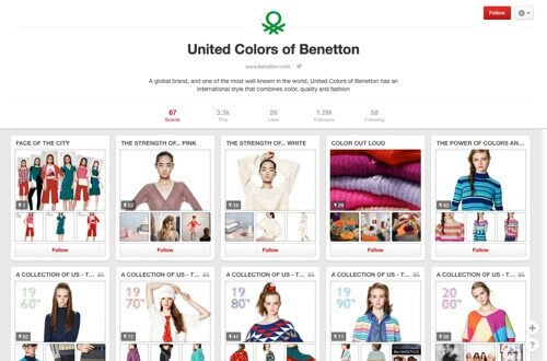 United Colors of Benetton on Pinterest.