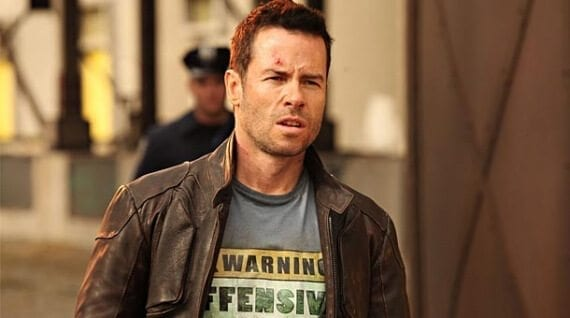 "Ecommerce merchants often struggle with content-marketing ideas. But there are actually endless sources of inspiration. For example, a t-shirt retailer could note a t-shirt in a movie. This ""Warning Offensive"" t-shirt, from the movie Lockout, could spark the idea for an article about t-shirts from science fiction movies."