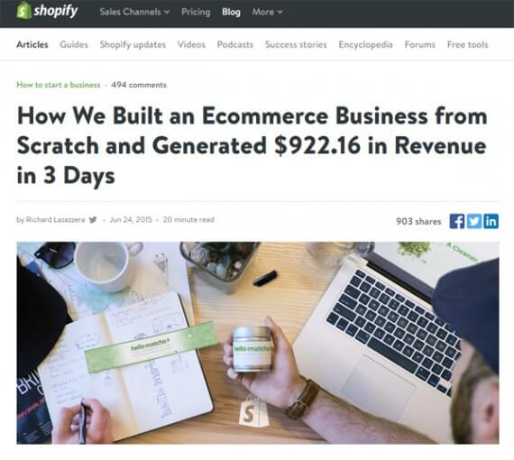 This Shopify tale of marketing success is a good read and an inspiration, but be careful that you don't set your marketing goals so high that you cannot help but fail.