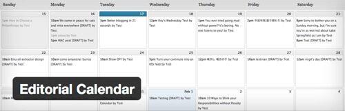 Editorial Calendar.