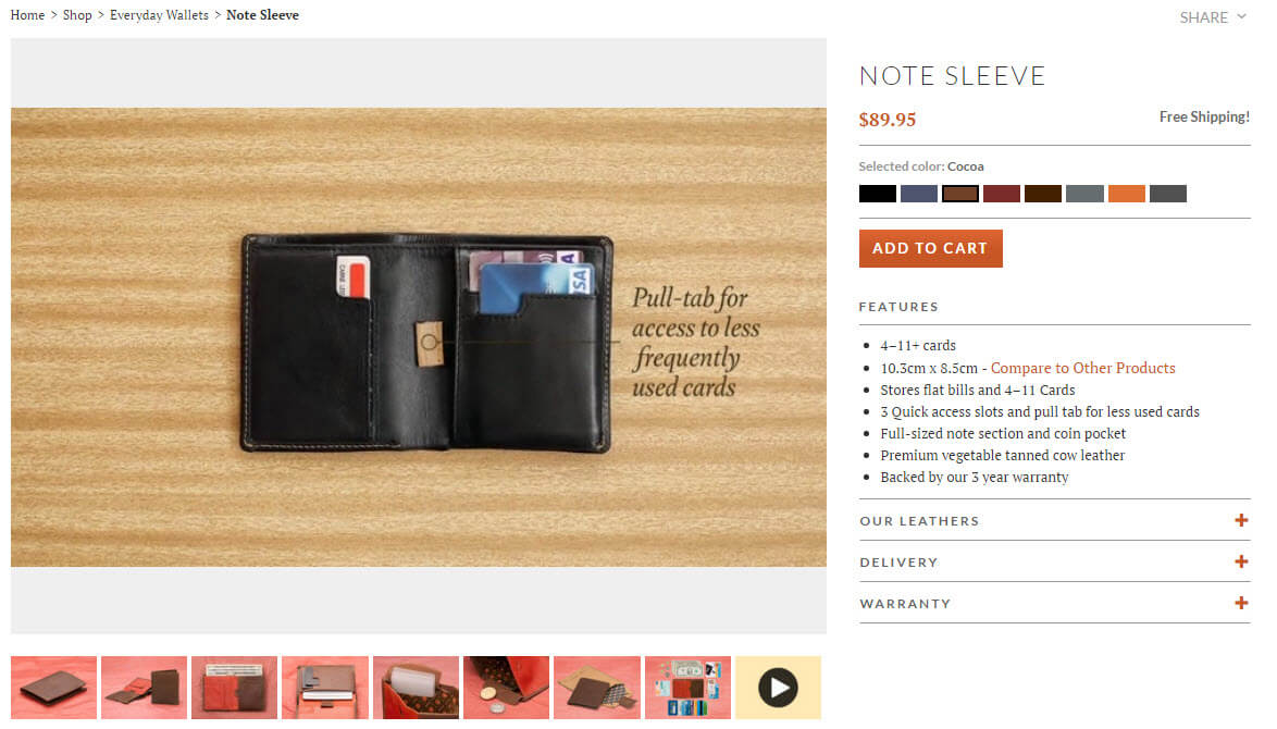 Bellroy product page