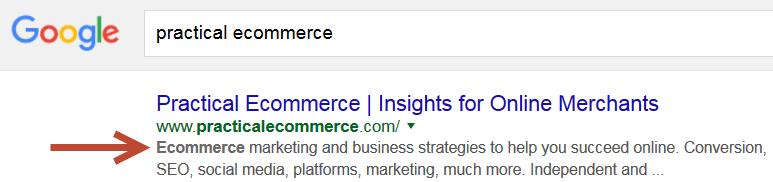 Meta description used in search result
