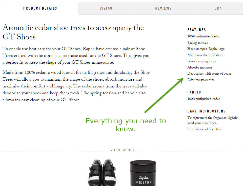 Rapha.com product details