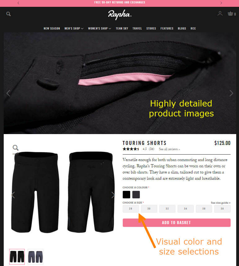 Rapha.com product page