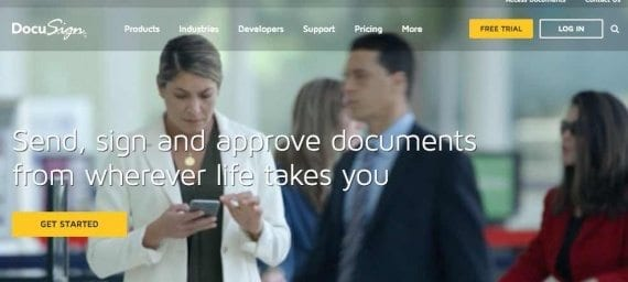 DocuSign is leading facilitator of e-signatures.In the United States, there is almost no legal difference in physically signing a contract versus electronically signing it. The law is more nuanced in Europe, however.