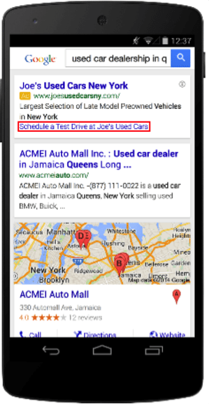 Dynamic sitelinks are available on mobile searches, as well as desktop.