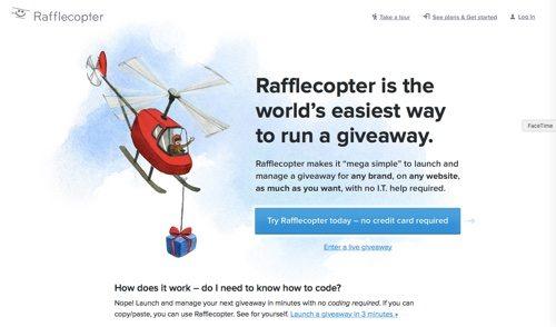 Rafflecopter.