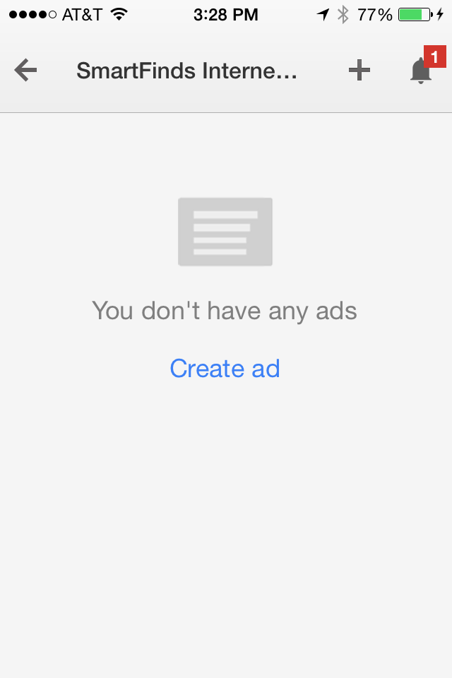 AdWords Express Create mobile ad.