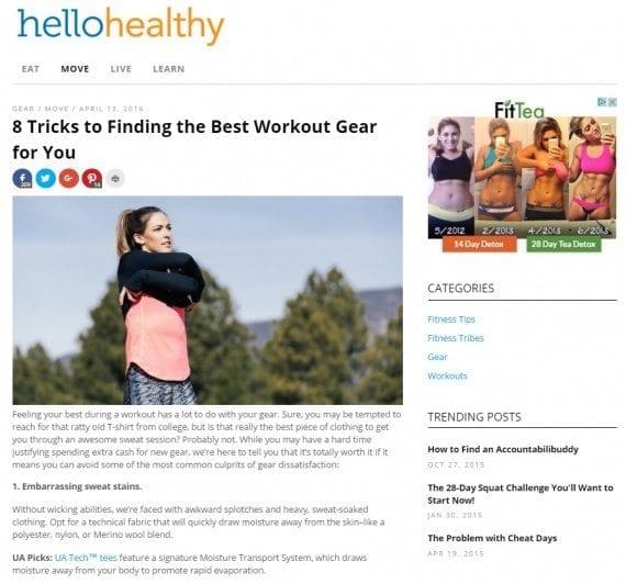 myfitnesspal blog post on choosing workout gear