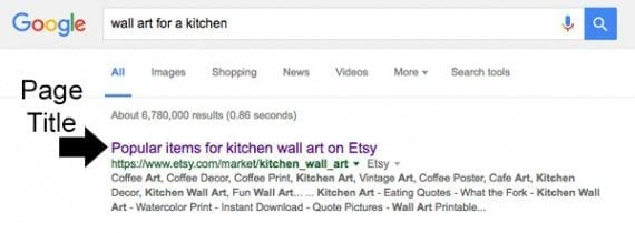 Page titles show up in prominent places, including on search engine results pages.