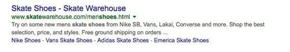 Meta descriptions can show up on a search engine results page.