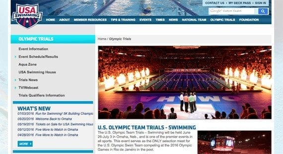 The U.S. Olympic Swimming Trials begin on June 26, 2016.
