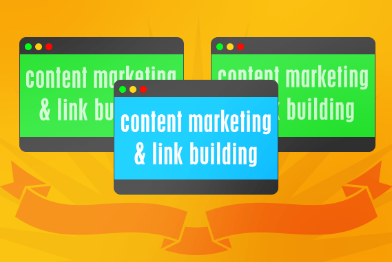 Content marketing and link building are distinct marketing activities that can be used together.