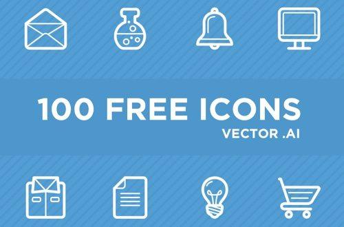 100 Free Icons.